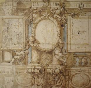 José Ximénez Donoso. Diseño decorativo. Gabinete de dibujos y estampas de la Galería Uffizi. Florencia.