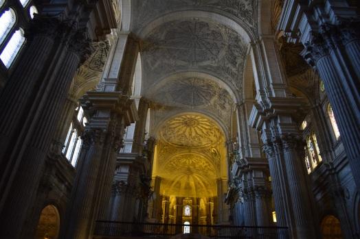 Vista del interior de la Catedral de Málaga.