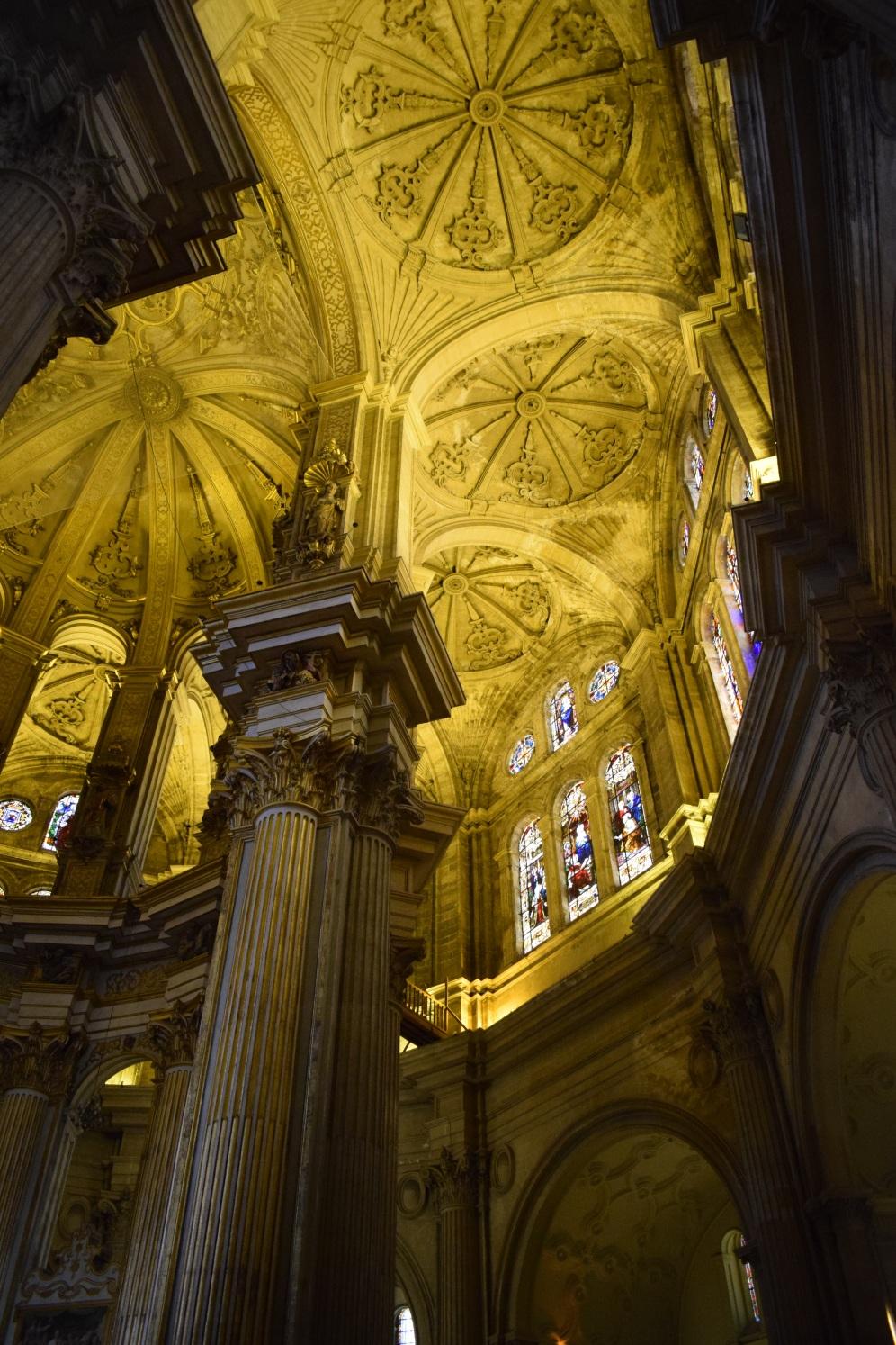 Catedral de Málaga. Detalle de la bóvedas de la girola. S. XVI.