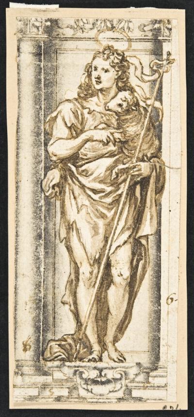 Francisco Rizi. San Juan Bautista. ca. 1654. Biblioteca Nacional de España.