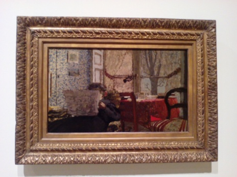 Edouard Vuillard. El periódico. Phillips collection. Washington D. C.