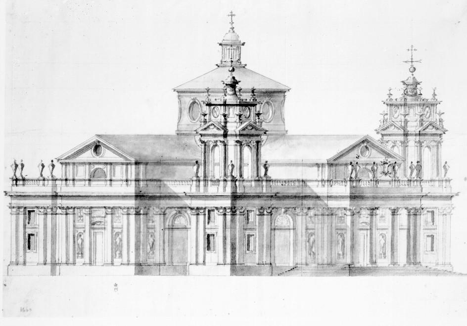 Ventura Rodríguez. Proyecto de iglesia (basílica del Pilar?). Foto: archivo Moreno IPCE.