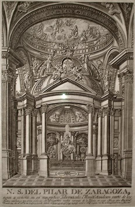 Estampa que representa la santa capilla del Pilar. 1805 (foto: wikicommons)