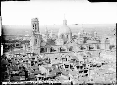 Jean Laurent. Vista general de la Basílica del Pilar. Foto: archivo Ruiz-Vernacci IPCE