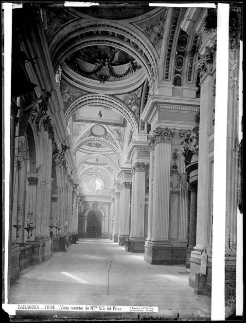 Jean Laurent. Interior de la Basílica del Pilar. Foto: archivo Ruiz-Vernacci IPCE