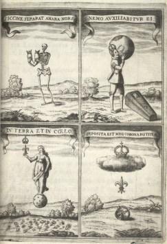 Juan de Noort (grab.) Jeroglíficos para las exequias de Isabel de Borbón.