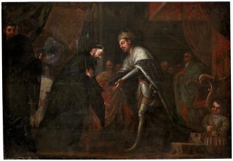San Agustín se encuentra con el emperador Honorio. Museo del Prado