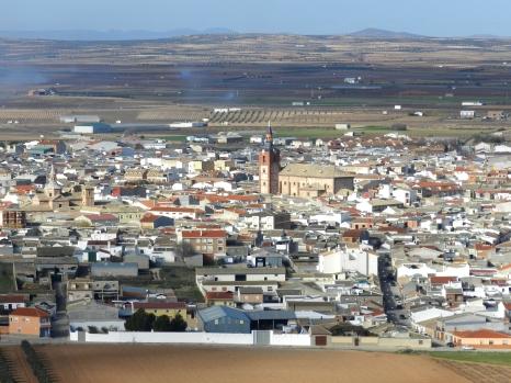 Herencia (Ciudad Real). vista aérea. foto: Elena Belloso en mapio.net