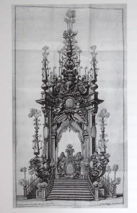 Teodoro Ardemans (traza). Túmulo para el Gran Delfín de Francia. 1711