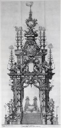 Teodoro Ardemans (traza). Túmulo para los duques de Borgoña. 1712.