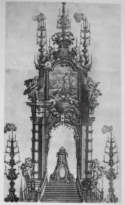 Teodoro Ardemans (traza). Túmulo para María Luisa Gabriela de Saboya. 1715.