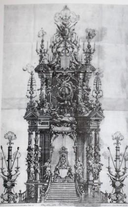 Teodoro Ardemans (traza). Túmulo para Luis XIV de Francia. 1717