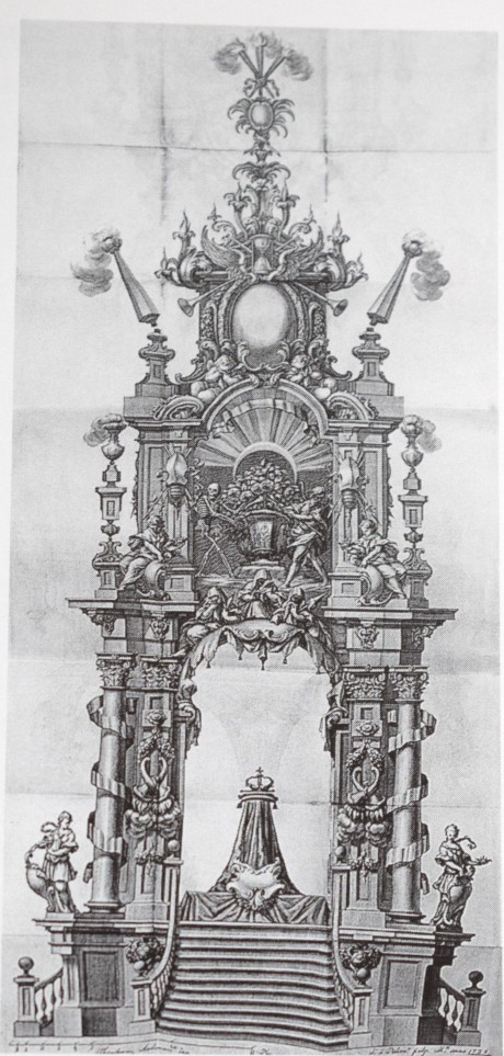Teodoro Ardemans (traza). Túmulo para Luis I. 1725