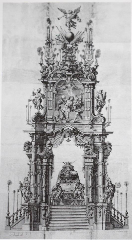 Teodoro Ardemans (traza). Túmulo para Francisco Farnesio. 1728