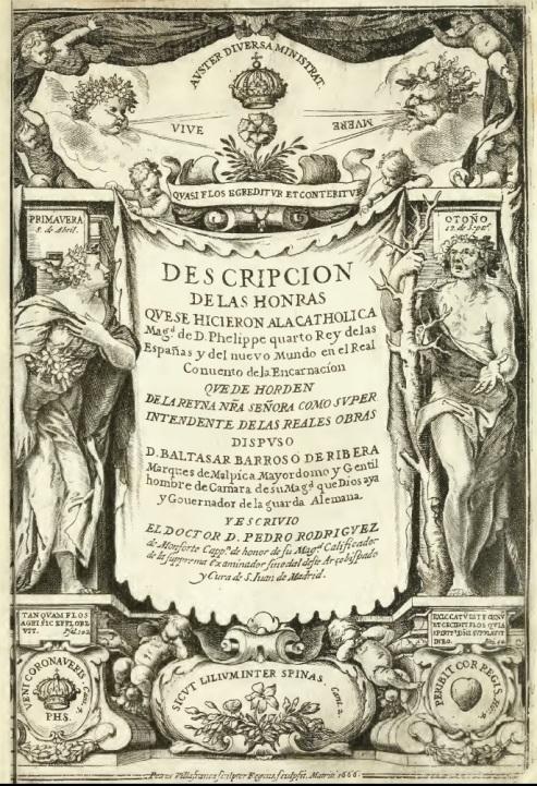 Pedro Villafranca (grab.) libro de exequias de Felipe IV
