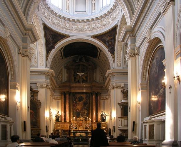 Iglesia del convento de la Encarnación (vista interior). Madrid. Foto: wikipedia