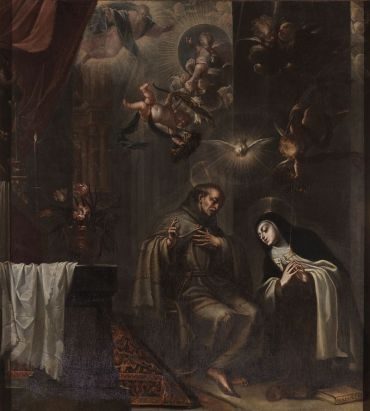 San Pedro de Alcántara confesando a Santa Teresa. Museo del Prado.