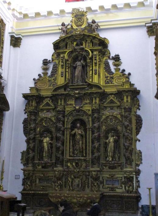 Alejandro de Saavedra. Altar del crucero de la Iglesia de Santiago en Cádiz. Foto: Cadizpedia