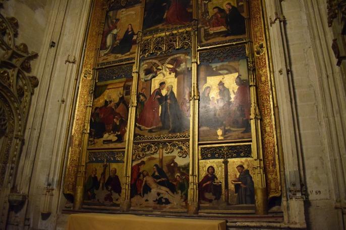 Capilla de la Concepción. Retablo atribuído a Juan de Borgoña, ca. 1502. Catedral de Toledo. Foto: @cipripedia.