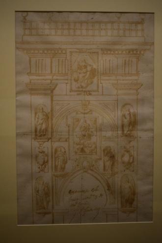 Proyecto decorativo para la Puerta del Perdón de la Catedral de Córdoba. Museo de Bellas Artes de Córdoba.