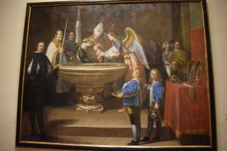 Antonio del Castillo. Bautismo de San Francisco. Museo de Bellas Artes.