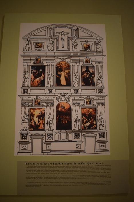 Reconstrucción virtual del Retablo Mayor de la Cartuja de Jerez que se puede ver en el Museo de Cádiz. Foto: Cipripedia.