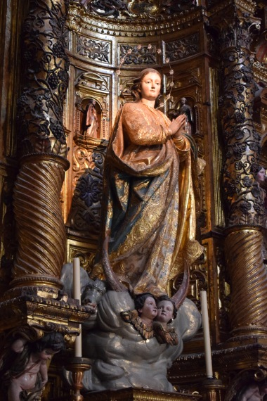 Domingo Giscardi. Inmaculada Concepción. s. XVIII. Retablo de la Iglesia de Santa Cruz. Cádiz. Foto: @Cipripedia