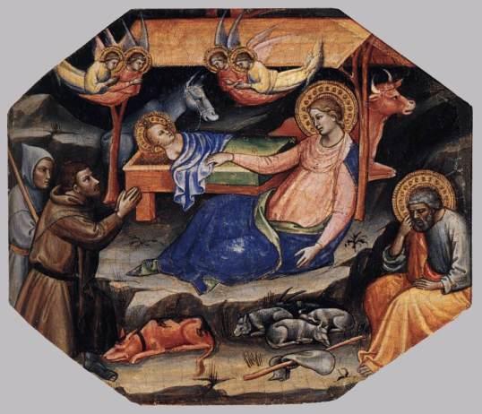 Mariotto di Nardo. Nacimiento de Cristo. antes de 1424. Metropolitan Museum. Nueva York. Foto: wikicommons.