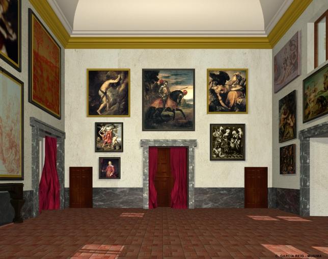 Carmen García Reig. Reconstrucción virtual del Salón Nuevo. Lado Este. Foto: Museo Imaginado.