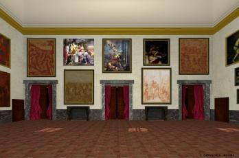Carmen García Reig. Reconstrucción virtual del Salón Nuevo. Lado norte. Foto: Museo Imaginado.