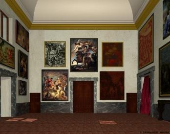 Carmen García Reig. Reconstrucción virtual del Salón Nuevo. Lado Oeste. Foto: Museo Imaginado.