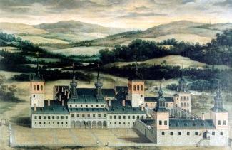 Anónimo. Vista del palacio de Vasaín.