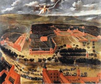 Anónimo. Vista del Buen Retiro. s. XVII.