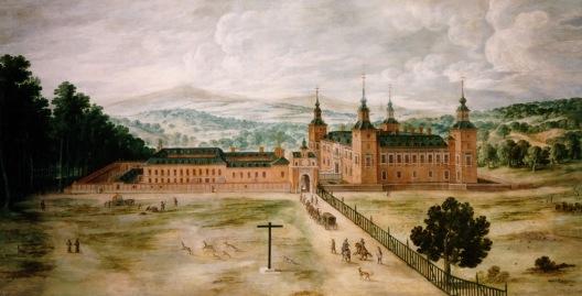 Jusepe Leonardo. Vista del palacio del Pardo. ca. 1630.