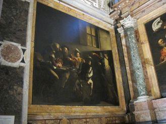 Caravaggio. Detalle de la Vocación de San Mateo. Foto: wikicommons