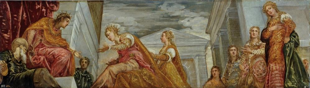 Tintoretto. Ester ante Asuero. foto: Museo del Prado.