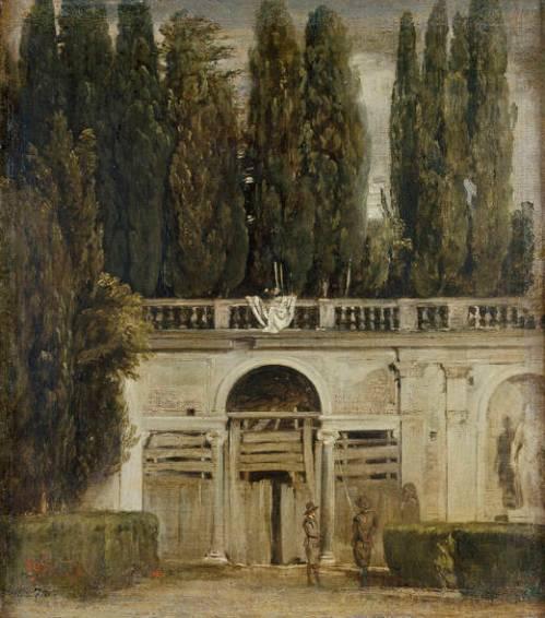 Diego Velázquez. Paisaje de villa Médici. ca. 1630. Museo del Prado. Foto: Museo del Prado.