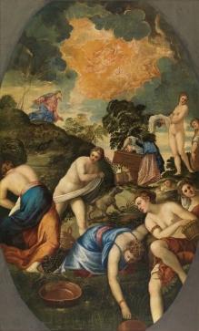 Tintoretto. Purificación del botín. foto: Museo del Prado.