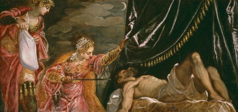 Tintoretto. Judith y Holofernes. foto: Museo del Prado.
