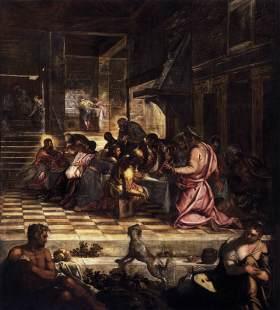 Jacopo Tintoretto. La última cena. Sala del Albergo. Scuola de S. Rocco. Venecia.