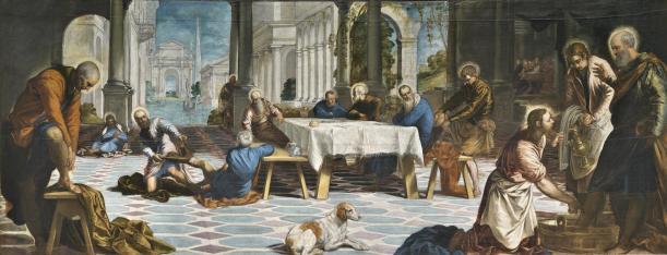 Tintoretto. Lavatorio. foto: Museo del Prado.