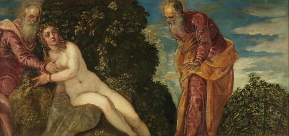 Tintoretto. Susana y los viejos. foto: Museo del Prado.