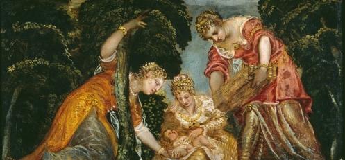Tintoretto. Moisés rescatado de las aguas. foto: Museo del Prado.