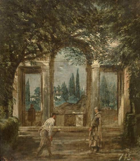 Diego Velázquez. Jardín en villa Médici. ca. 1630. Madrid. Museo del Prado. foto: Museo del Prado