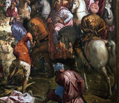 Tintoretto, La crocifissione (detalle). Sala dell'albergo, Scuola di San Rocco, Venezia