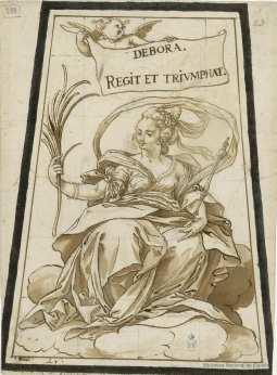 Sebastián de Herrera Barnuevo. Débora. Dibujo. Foto: Biblioteca Nacional