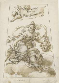 Sebastián de Herrera Barnuevo. Esther. Dibujo. Foto: Biblioteca Nacional