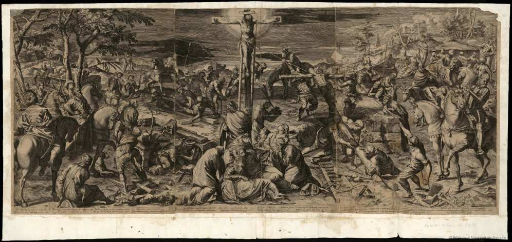 Según Jacopo Tintoretto. Crucifixión. Foto: Biblioteca Nacional