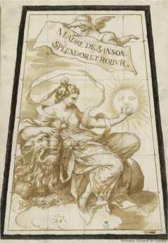 Sebastián de Herrera Barnuevo. Madre de Sansón. Dibujo. Foto: Biblioteca Nacional.
