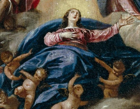 Sebastián de Herrera Barnuevo. Asunción de la Virgen (detalle). ca. 1650. Museo del Prado. Madrid. Foto: Museo del Prado